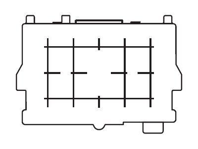 Canon EF-D - Mattscheibeneinsatz - für EOS 40D, 50D, 60D, 60Da, 70D