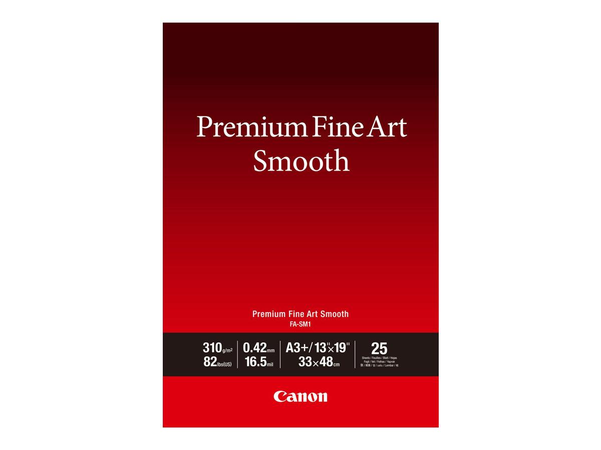 Canon Premium Fine Art Smooth FA-SM1 - Seidig - 16,5 mil - A3 Plus (330,2 x 482,6 mm) - 310 g/m² - 25 Blatt Fotopapier