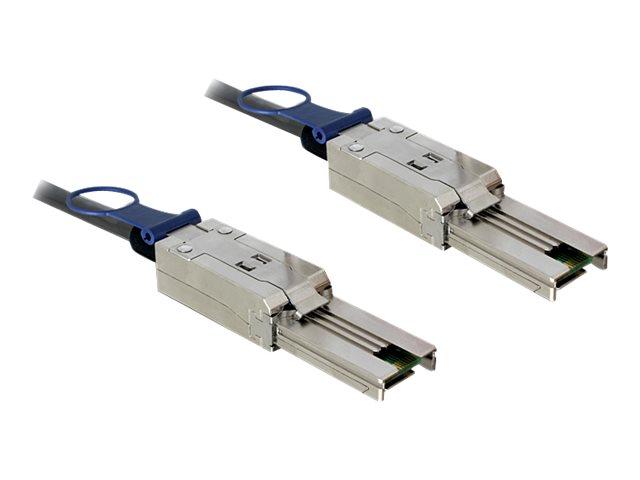 DeLOCK - Externes SAS-Kabel - 4x Shielded Mini MultiLane SAS (SFF-8088), 26-polig (M) bis 4x Shielded Mini MultiLane SAS (SFF-80