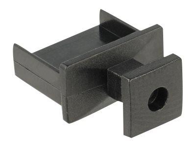 DeLOCK Dust Cover for USB Type-A Female - Schutzumschlag - Schwarz (Packung mit 10)