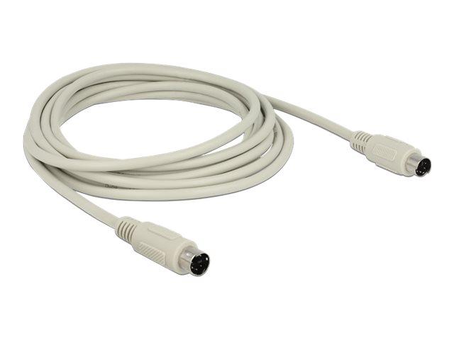 DeLOCK - Tastatur- / Video- / Maus- (KVM-) Kabel - PS/2 (M) bis PS/2 (M) - 3 m - Grau