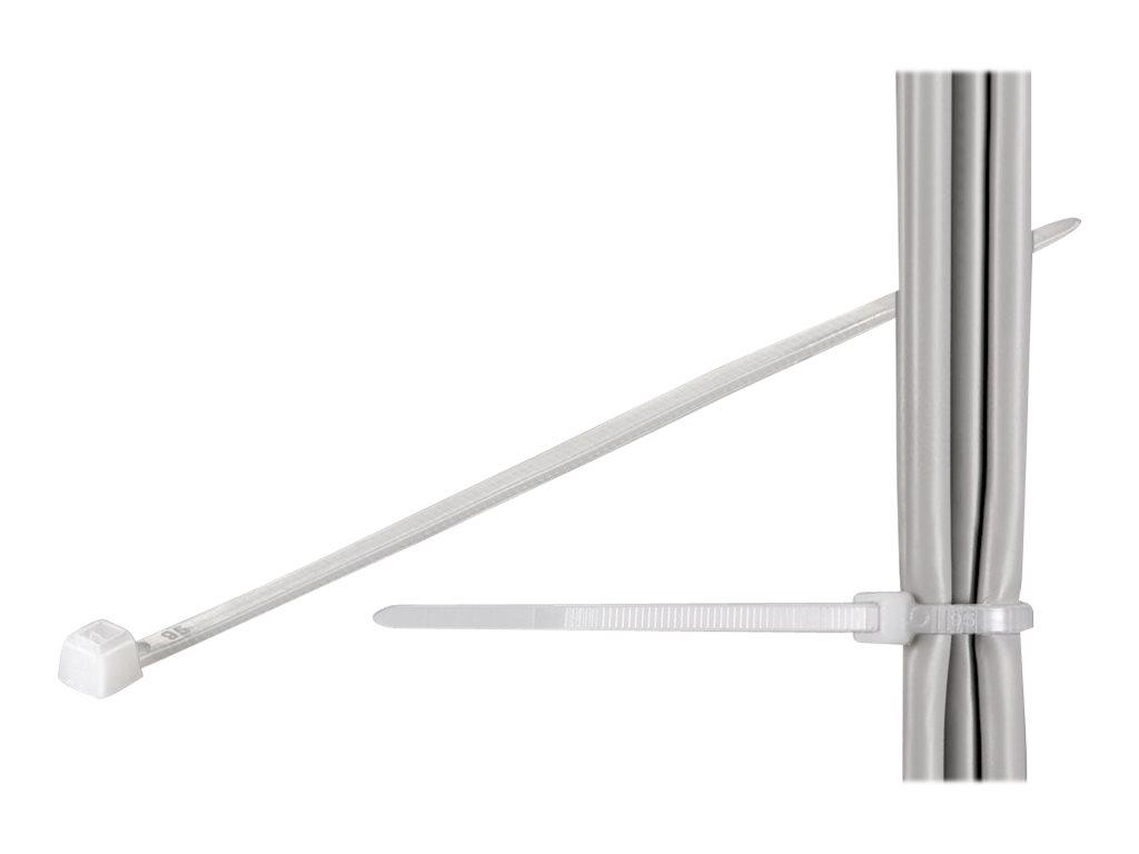 wentronic Standard - Kabelbinder - Natural (Packung mit 100)