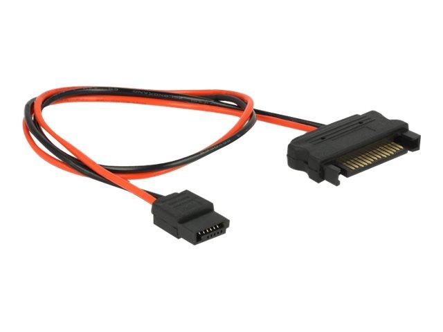 DeLOCK - Stromkabel - SATA-Stromstecker (M) bis Slimline SATA Leistung (W) - 30 cm
