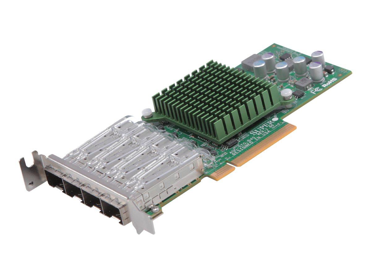 Supermicro Add-on Card AOC-STG-b4S - Netzwerkadapter - PCIe 3.0 x8 Low-Profile - 10 Gigabit SFP+ x 4