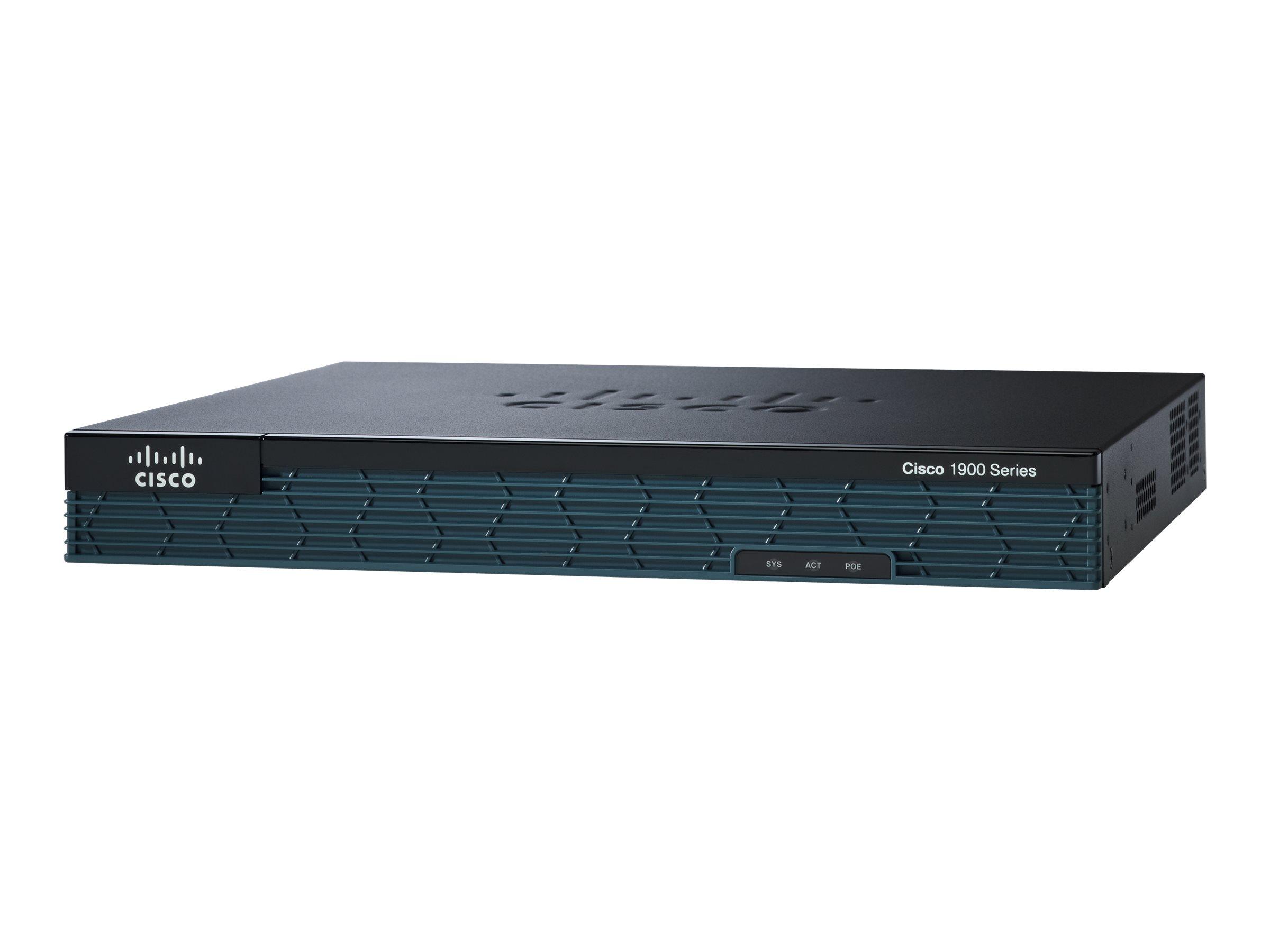 Cisco 1921 ISR with EHWIC-VA-DSL-A bundle - Router - DSL-Modem - GigE - an Rack montierbar