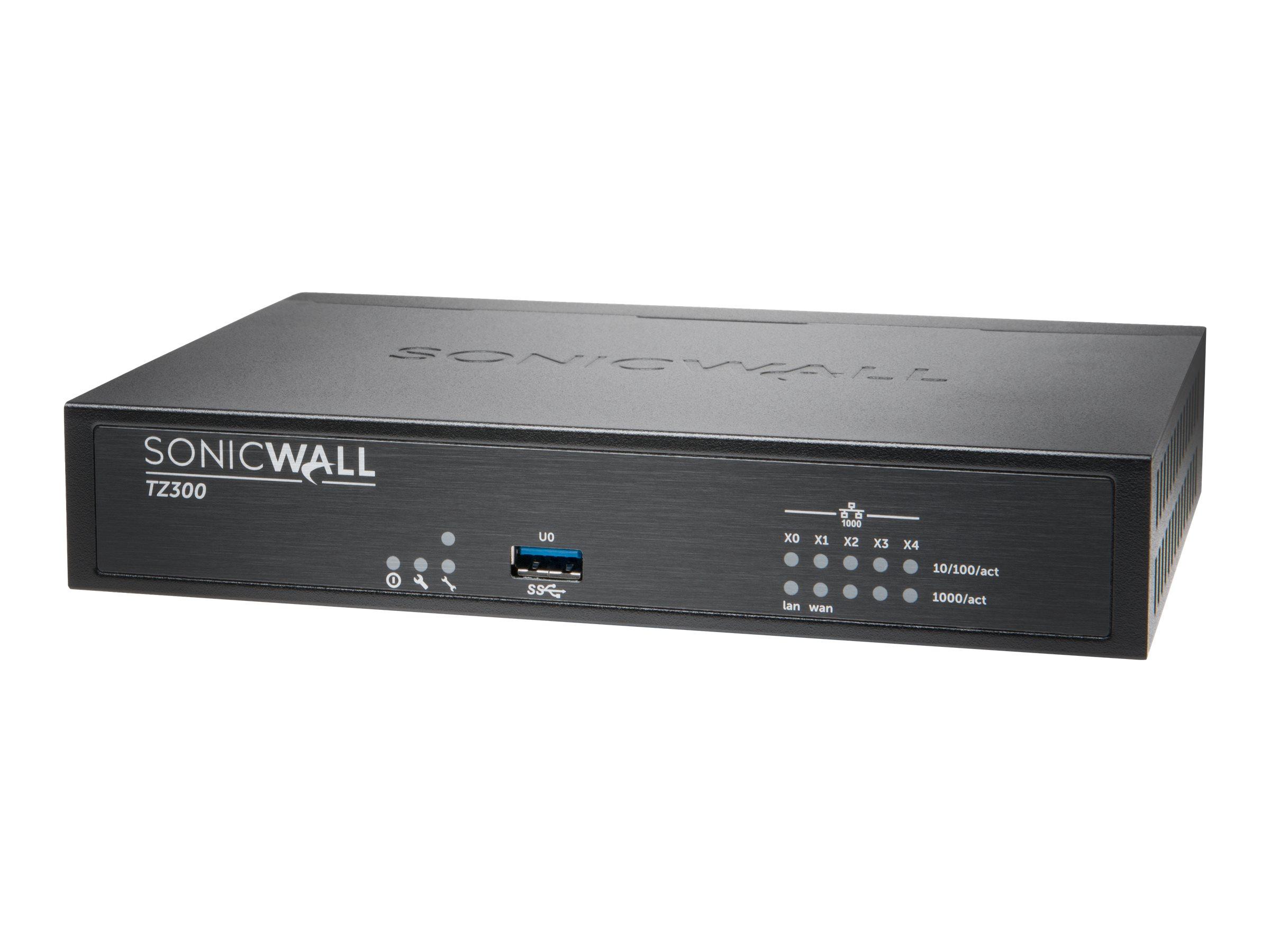 SonicWall TZ300 - Sicherheitsgerät - 5 Anschlüsse - GigE - NFR
