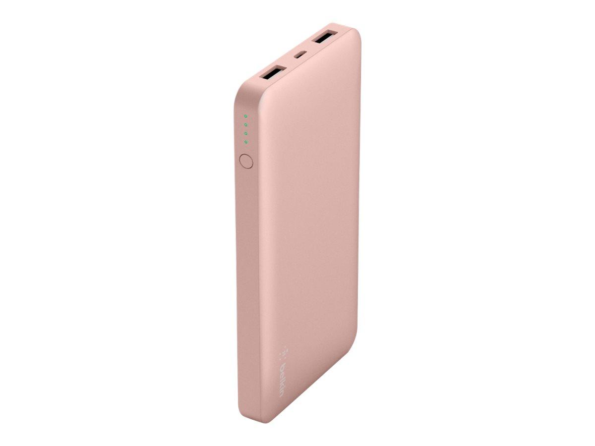 Belkin Pocket Power - Powerbank - 10000 mAh - 2.4 A - 2 Ausgabeanschlussstellen (USB) - auf Kabel: Micro-USB