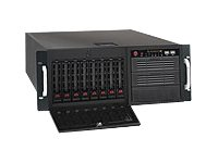 Supermicro SC743 TQ-1200B-SQ - Tower - 4U - Erweitertes ATX - SATA/SAS 1200 Watt - Schwarz
