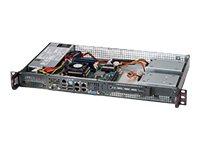 Supermicro SC505 203B - Rack-Montage - 1U - Mini-ITX - nicht Hot-Swap-fähig 200 Watt - Schwarz