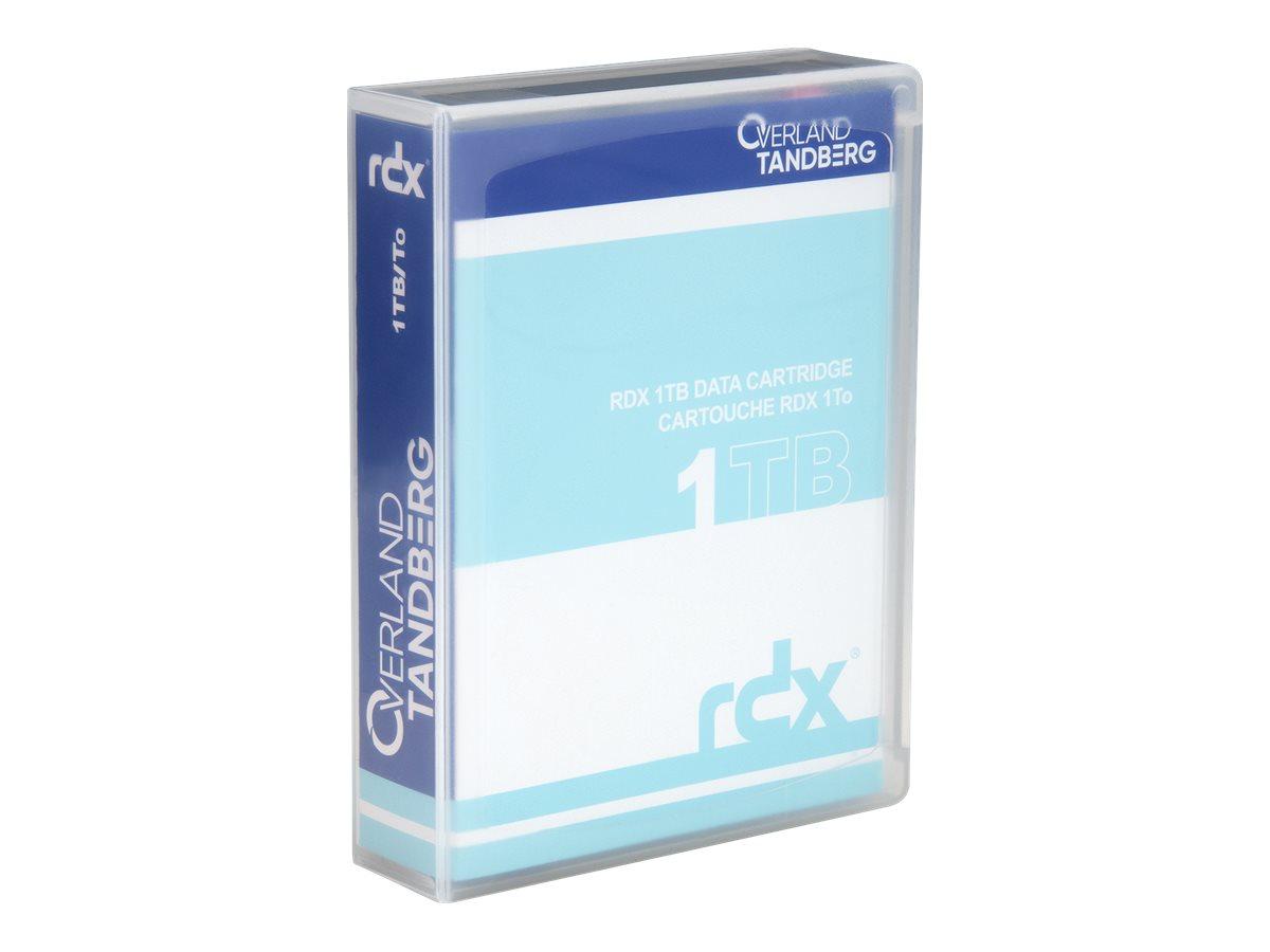 Overland Tandberg RDX QuikStor - RDX - 1 TB - für P/N: 8660-RDX, 8666-RDX, 8667-RDX, 8668-RDX, 8669-RDX, 8697-RDX, 8698-RDX, 873