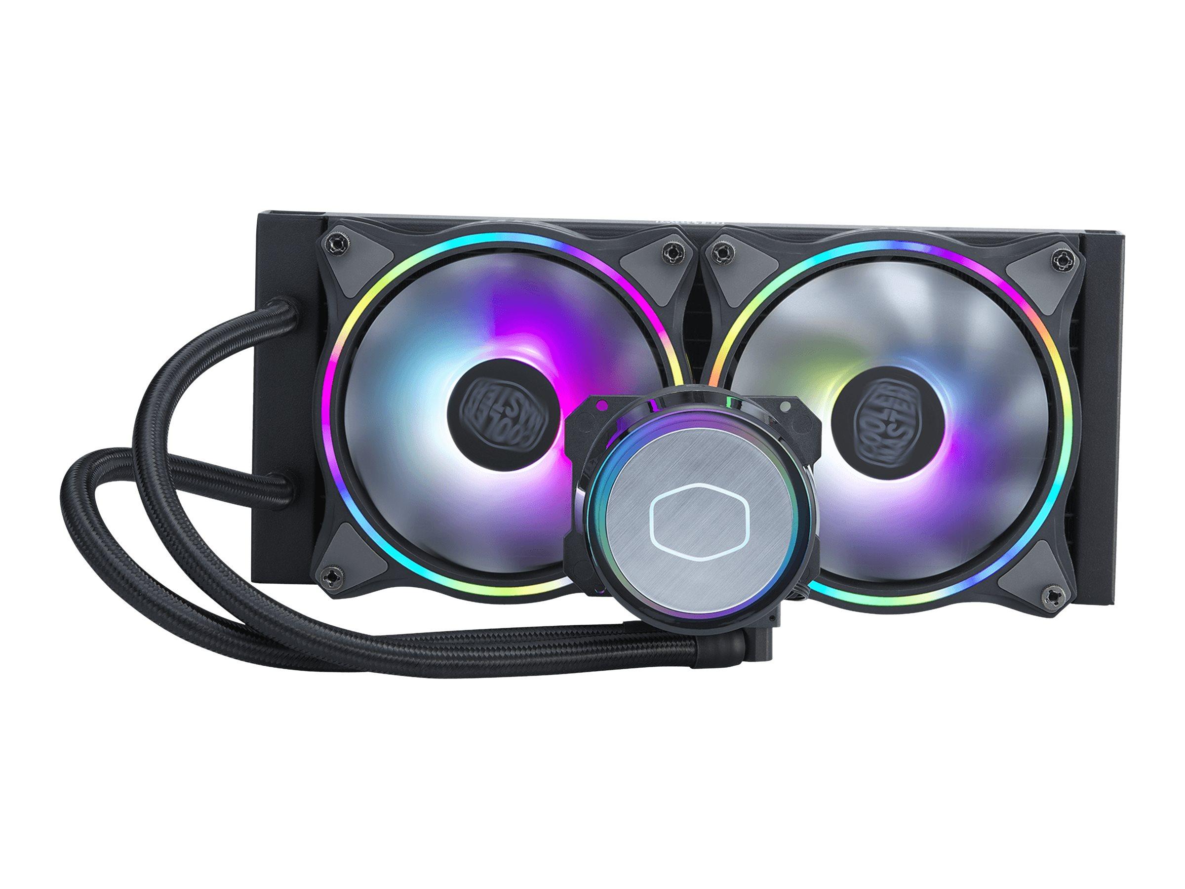 Cooler Master MasterLiquid ML240 Illusion - Prozessor-Flüssigkeitskühlsystem - Kühlergrösse: 240 mm - (für: LGA1156, AM2, AM2+,