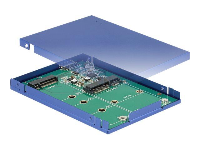 Delock - Speichergehäuse - M.2 Card / mSATA - USB 3.1 (Gen 2)