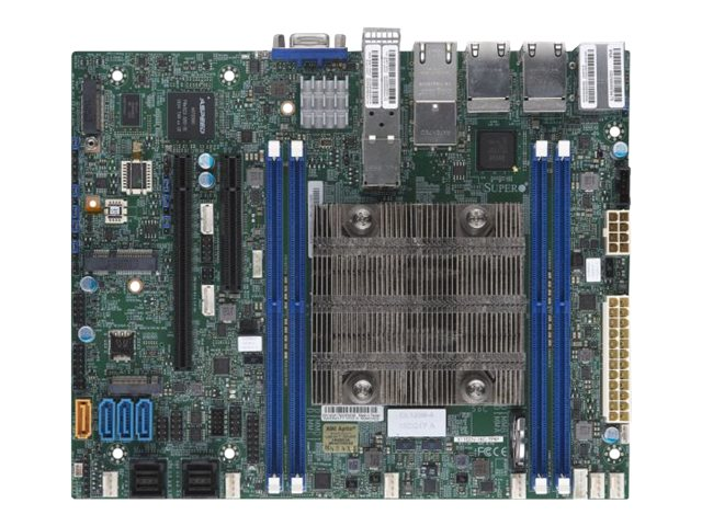 SUPERMICRO X11SDV-16C-TP8F - Motherboard - FlexATX - Intel Xeon D-2183IT - USB 3.0 - 4 x Gigabit LAN, 4 x 10 Gigabit LAN