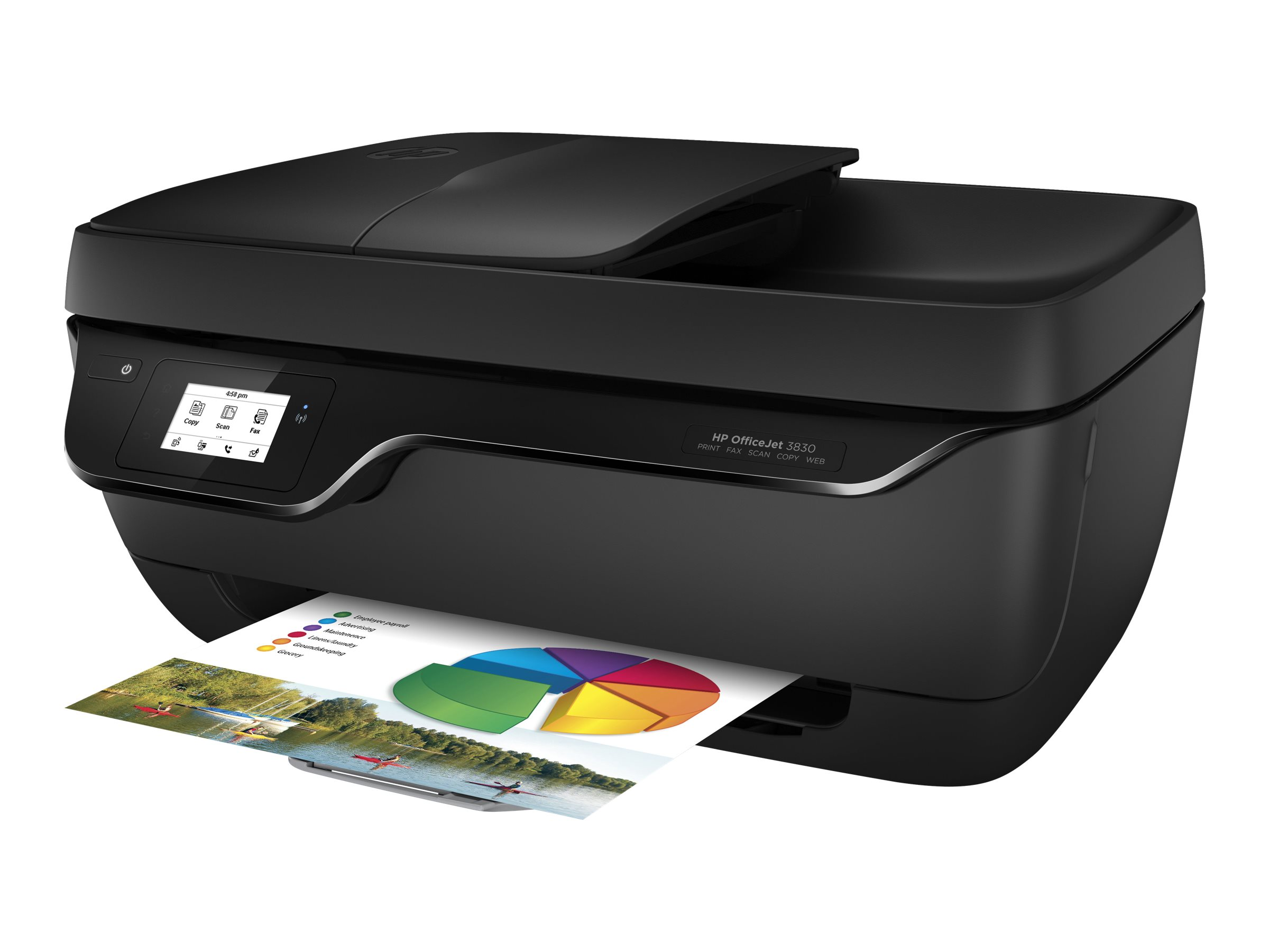 HP Officejet 3833 All-in-One - Multifunktionsdrucker - Farbe - Tintenstrahl - 216 x 297 mm (Original) - A4 (Medien)