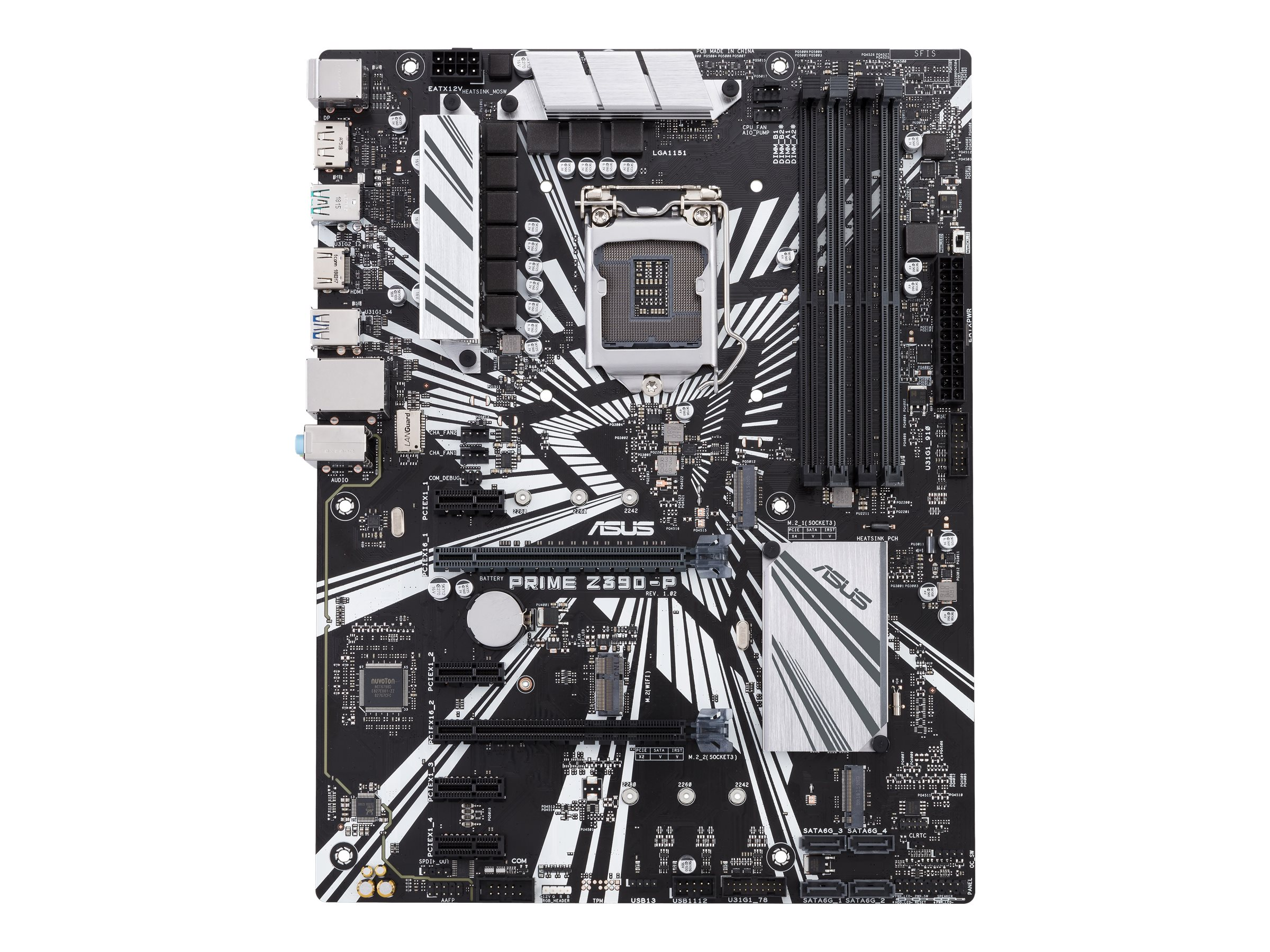 ASUS PRIME Z390-P - Motherboard - ATX - LGA1151 Socket - Z390 Chipsatz - USB 3.1 Gen 1, USB 3.1 Gen 2