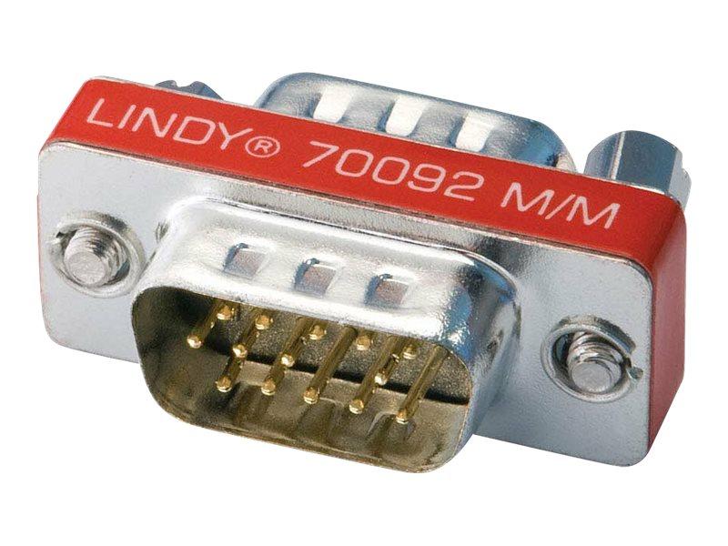 Lindy Mini Gender Changer - Invertieradapter - HD-15 (VGA) (M) bis HD-15 (VGA) (M)