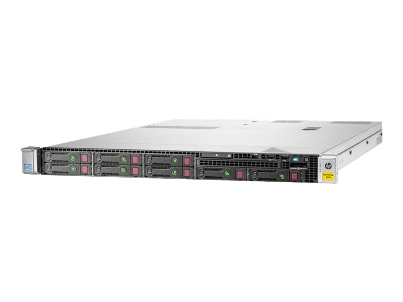 HPE StoreVirtual 4330 - Festplatten-Array - 3.6 TB - 8 Schächte (SAS-2) - HDD 450 GB x 8 - iSCSI (1 GbE) (extern)
