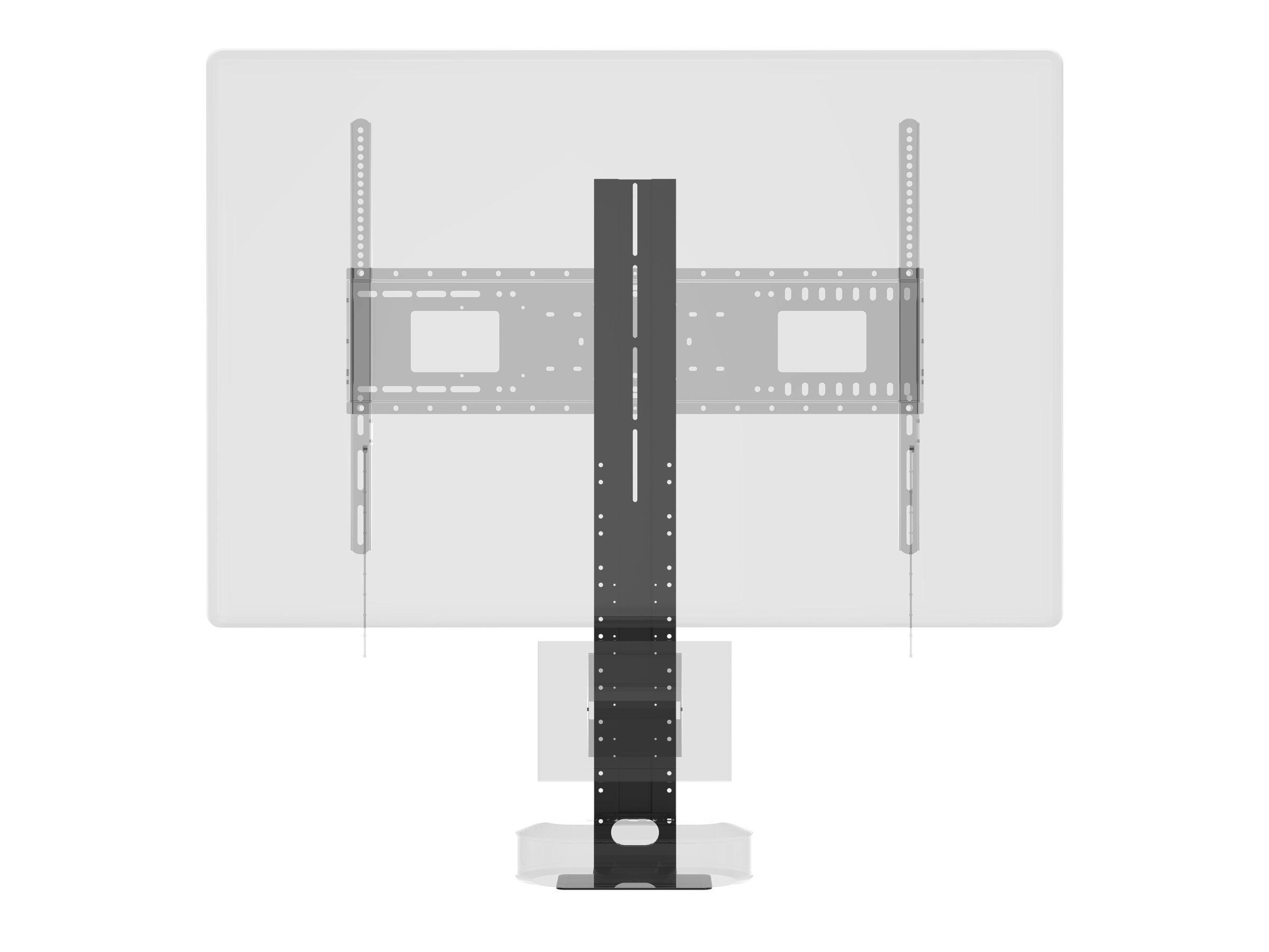 Vision VFM-WVC - Montagekomponente (Regal) für Videokonferenz-Kamera - kaltgewalzter Stahl - Schwarz - Montageschnittstelle: 100