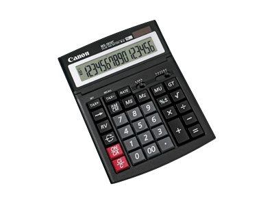 Canon WS-1610T - Desktop-Taschenrechner - 16 Stellen - Solarpanel, Batterie - Schwarz