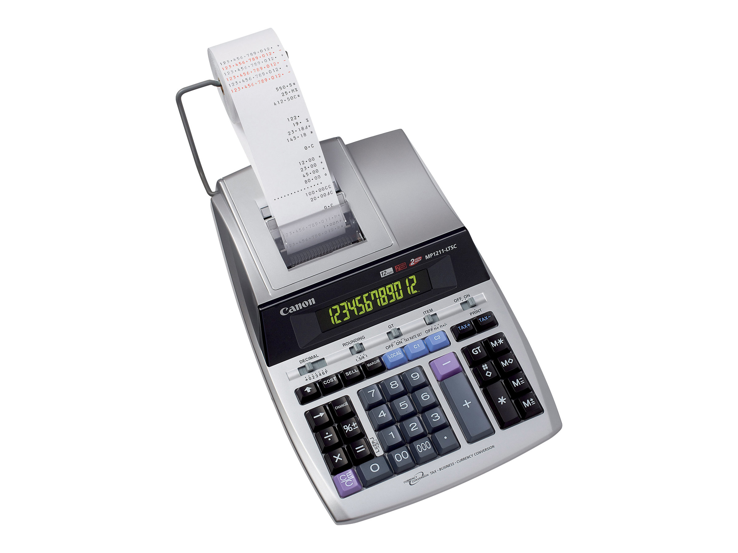 Canon MP1211-LTSC - Druckrechner - LCD - 12 Stellen - Wechselstromadapter, Speichersicherungsbatterie - Silver Metallic