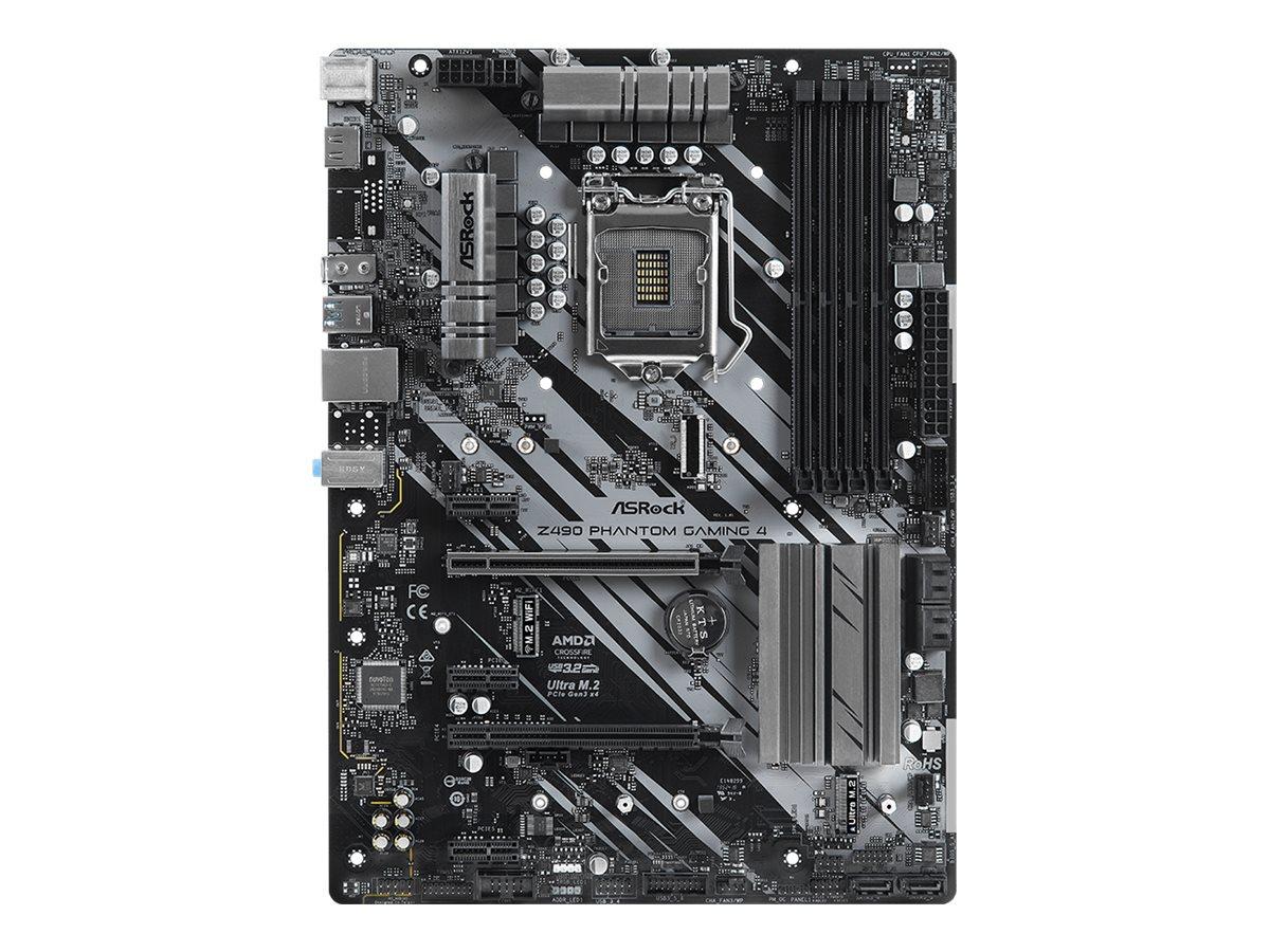 ASRock Z490 Phantom Gaming 4 - Motherboard - ATX - LGA1200-Sockel - Z490 - USB-C Gen2, USB 3.2 Gen 1, USB 3.2 Gen 2