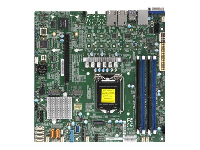 SUPERMICRO X11SCM-F - Motherboard - micro ATX - LGA1151 Socket - C246 - USB 3.1 Gen 1
