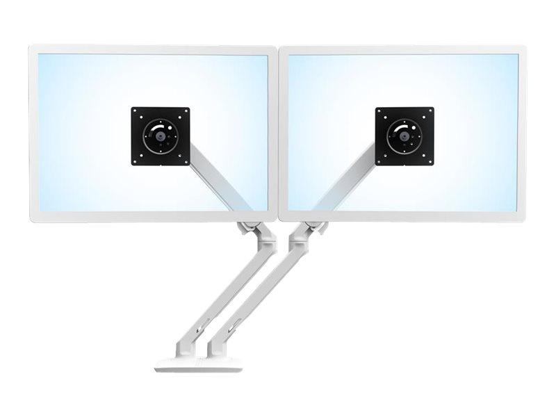 Ergotron MXV Desk Dual Monitor Arm with Top Mount C-Clamp - Befestigungskit (C-Klammer) für 2 Monitore - Stahl - weiss - Bildsch