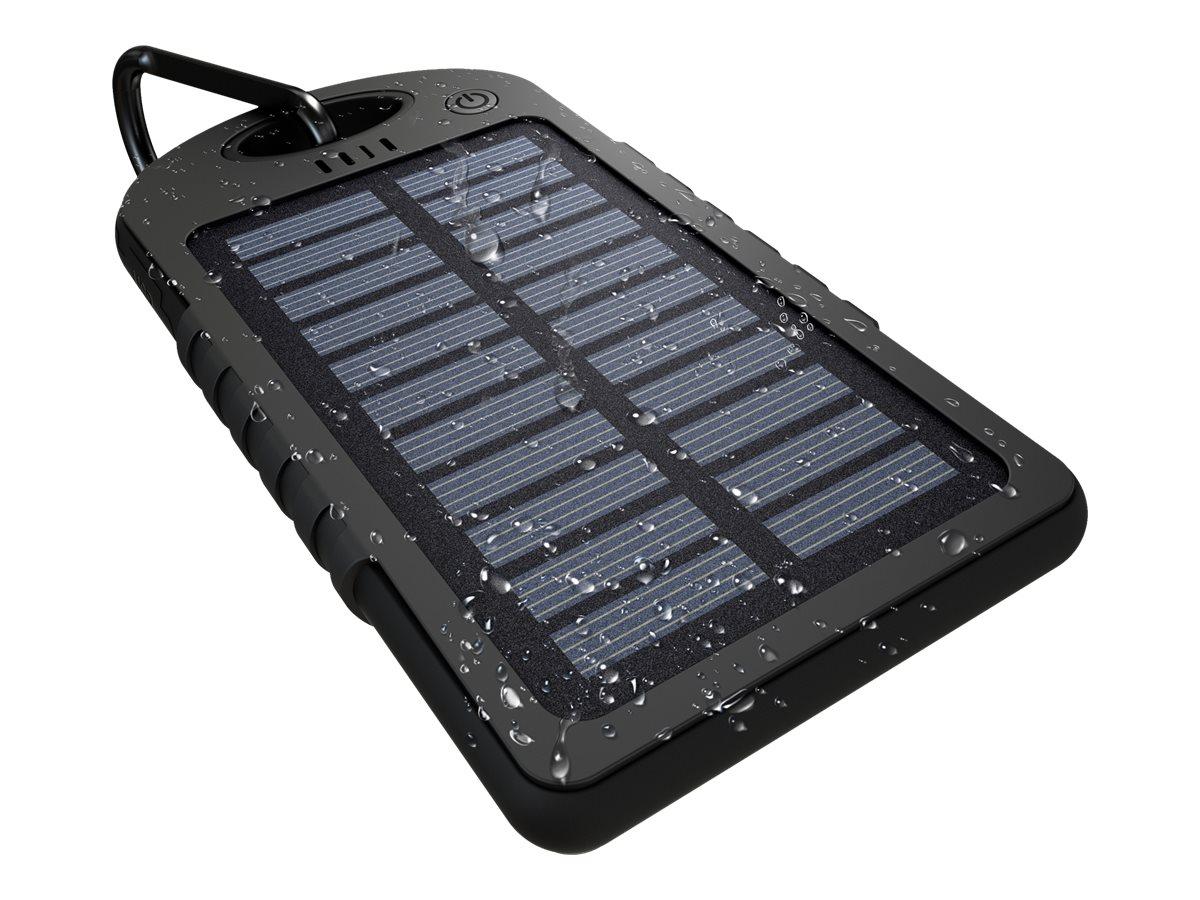 GoPole Dualcharge - Solar-Powerbank - 5000 mAh - 2 Ausgabeanschlussstellen (USB) - Schwarz - für GoPro HD HERO; HD HERO2; HERO;