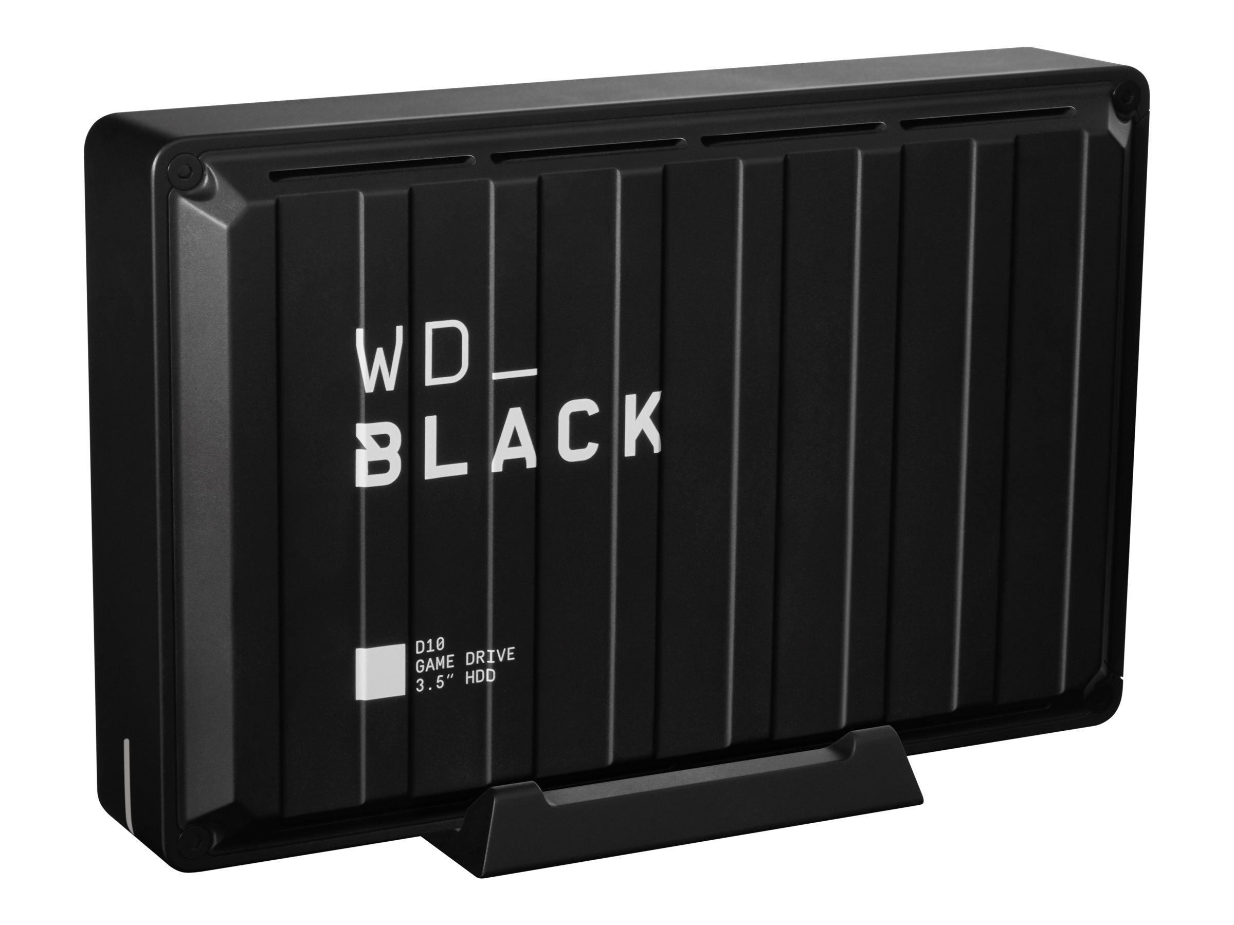 WD_BLACK D10 Game Drive WDBA3P0080HBK - Festplatte - 8 TB - extern (tragbar) - USB 3.2 Gen 1 - 7200 rpm