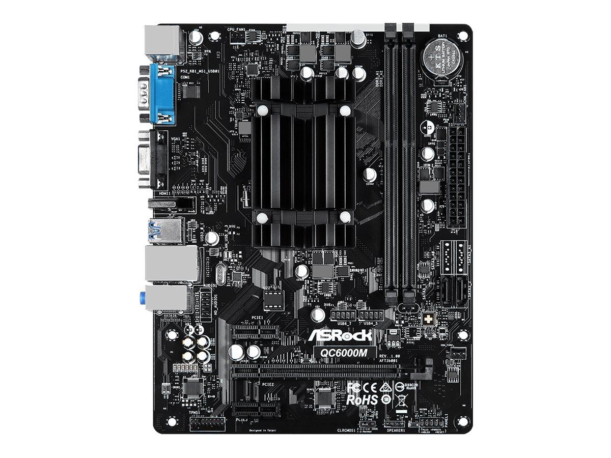 ASRock QC6000M - Motherboard - micro ATX - AMD E2 6110 - USB 3.2 Gen 1 - Gigabit LAN