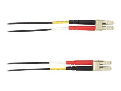 Black Box - Patch-Kabel - LC Multi-Mode (M) bis LC Multi-Mode (M) - 3 m - Glasfaser - Schwarz