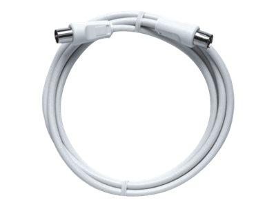 AXING BAK 375-90 - HF-Kabel - IEC-Anschluss (W) bis IEC-Anschluss (W) - 3.75 m - abgeschirmt - weiss