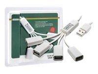 DIGITUS DA-70216 Slim Spider USB Hub - Hub - 4 x USB 2.0 - Desktop
