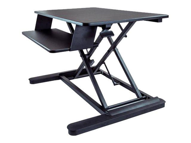 StarTech.com Sitz / Steh Schreibtisch - mit 89cm Arbeitsfläche - Sitz-Steh Tisch - Höhenverstellbar - Sit-Stand Workstation - Be