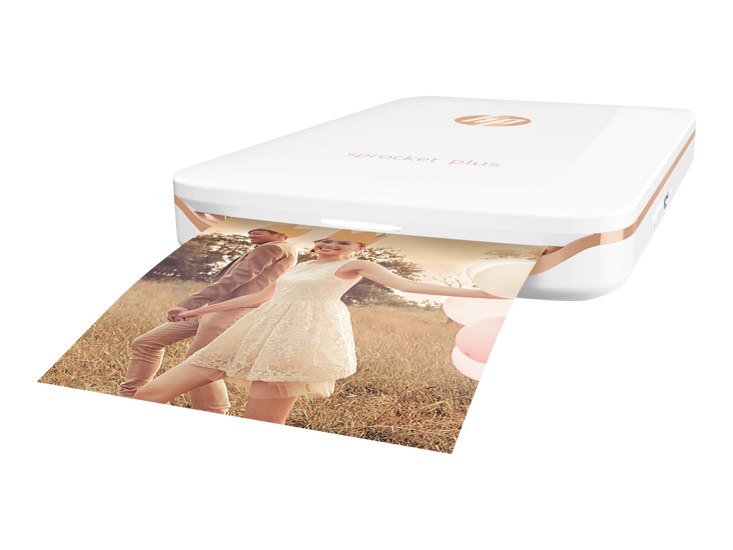 HP Sprocket Plus Photo - Drucker - Farbe - Zink - 58 x 87 mm bis zu 1.13 Min./Seite (Farbe) - Kapazität: 10 Blätter