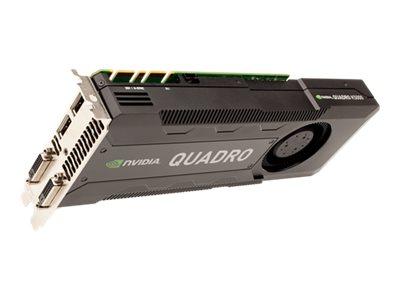 NVIDIA Quadro K5000 - Grafikkarten - Quadro K5000 - 4 GB GDDR5 - PCIe x16 - DVI, 2 x DisplayPort