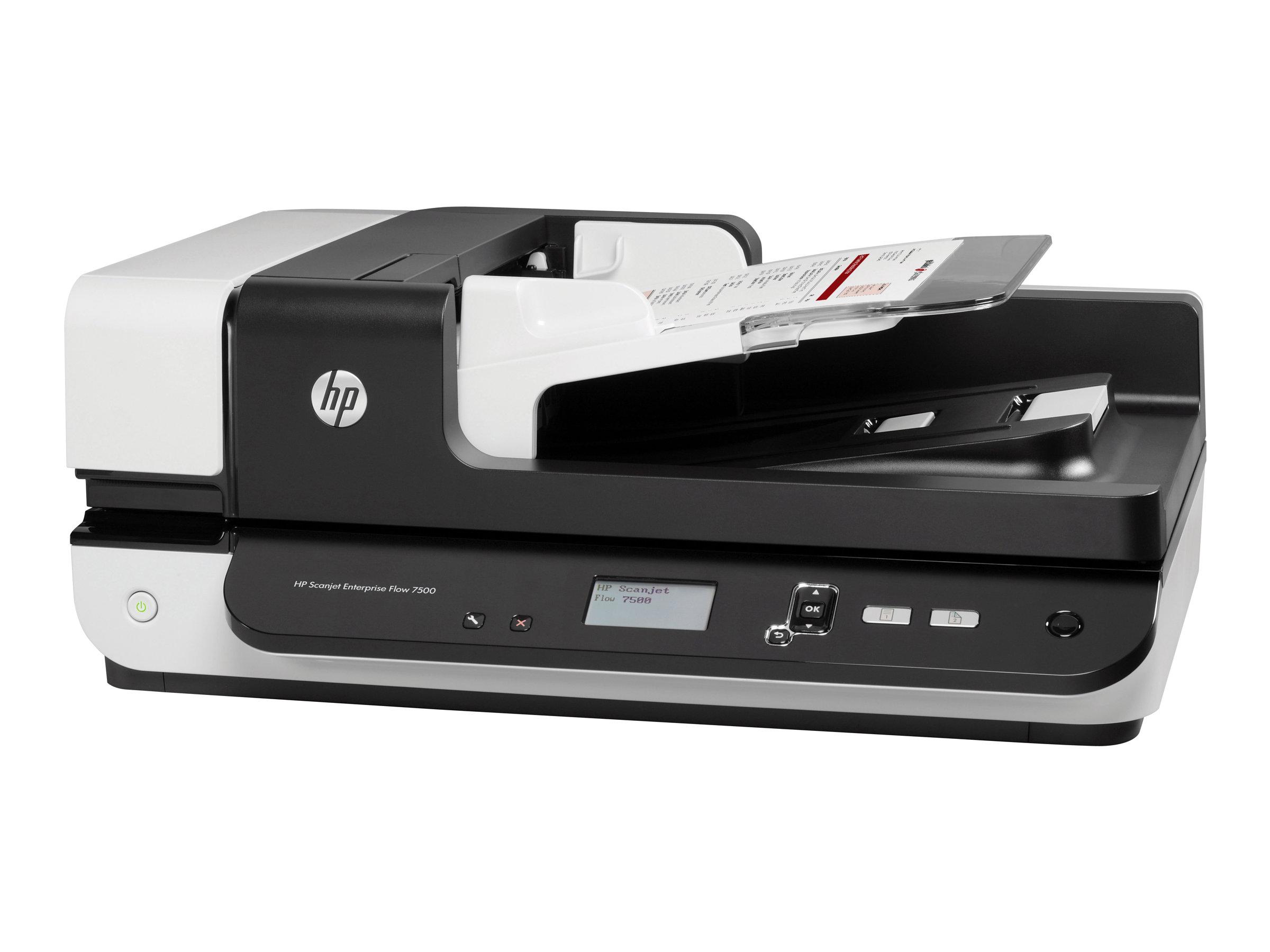 HP ScanJet Enterprise Flow 7500 - Dokumentenscanner - Duplex - 216 x 864 mm - 600 dpi x 600 dpi - bis zu 50 Seiten/Min. (einfarb