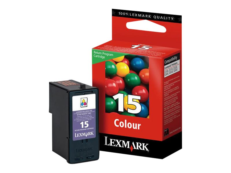 Lexmark Cartridge No. 15 - Farbe (Cyan, Magenta, Gelb) - Original - Tintenpatrone LRP - für Lexmark X2600, X2650, X2670, Z2300,