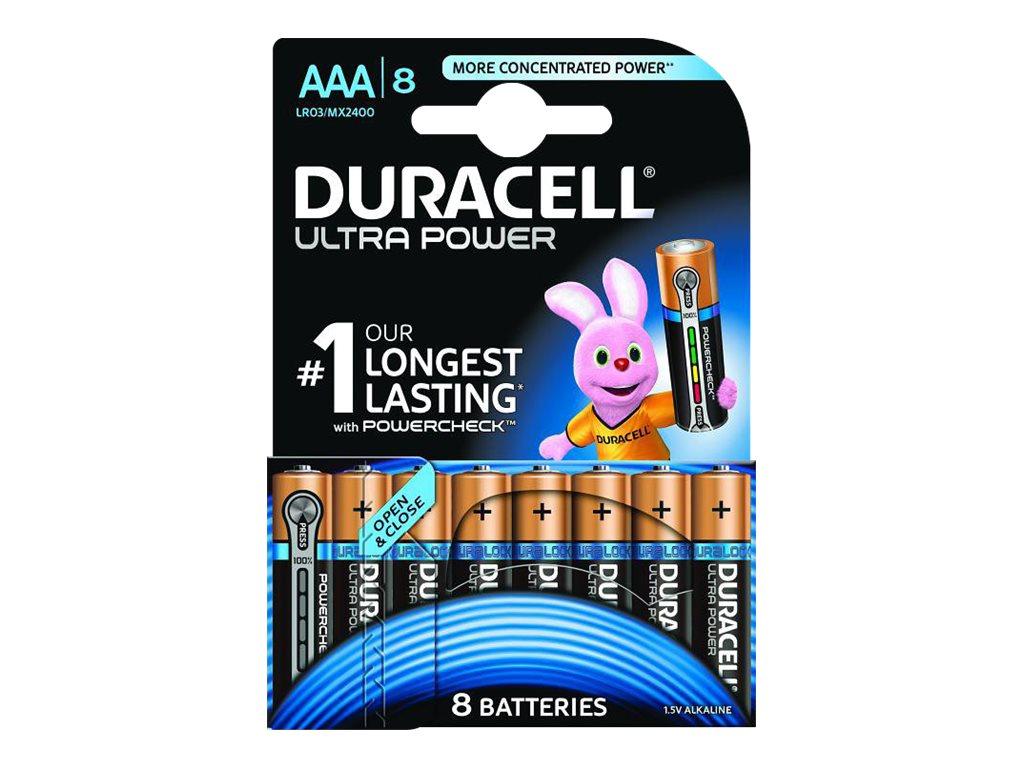Duracell Ultra Power MX2400B8 - Batterie 8 x AAA-Typ - Alkalisch