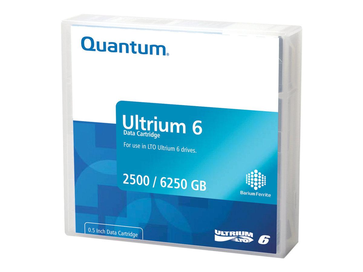 Quantum - 20 x LTO Ultrium 6 - 2.5 TB / 6.25 TB - Mit Strichcodeetikett - Schwarz - Library Pack