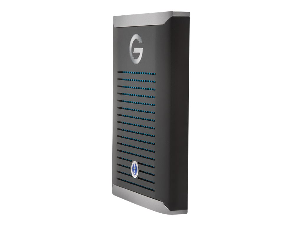 G-Technology G-DRIVE Mobile Pro - Solid-State-Disk - 2 TB - extern (tragbar) - Thunderbolt 3 (USB-C Steckverbinder) - Space-grau