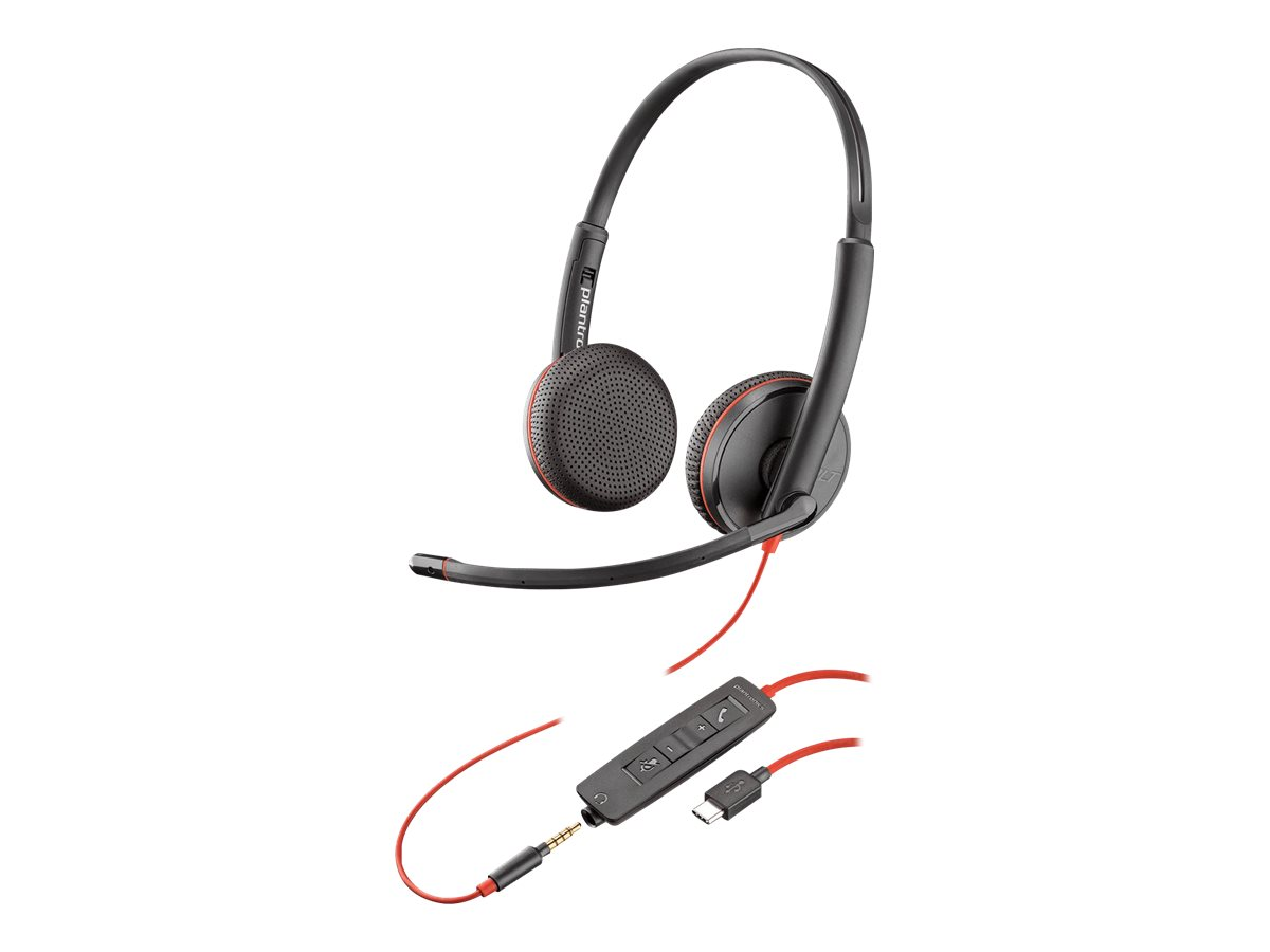 Plantronics Blackwire C3225 USB-C - 3200 Series - Headset - On-Ear - kabelgebunden - 3,5 mm Stecker, USB-C