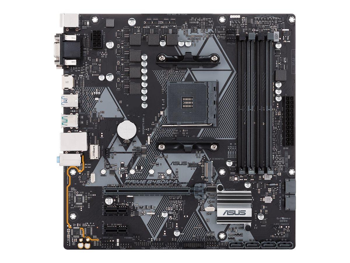 ASUS PRIME B450M-A - Motherboard - micro ATX - Socket AM4 - AMD B450 - USB 3.1 Gen 1, USB 3.1 Gen 2
