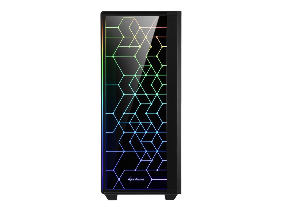 Sharkoon RGB LIT 100 - Tower - ATX - ohne Netzteil - USB/Audio