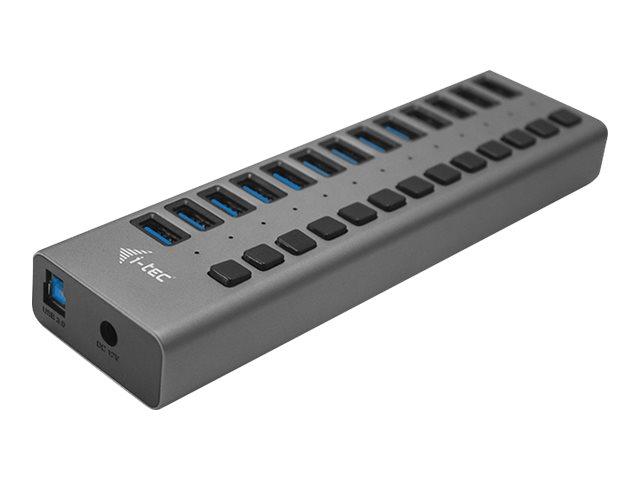 i-Tec USB 3.0 Charging HUB 13 port + Power Adapter 60 W - Hub - 13 x SuperSpeed USB 3.0 - Desktop