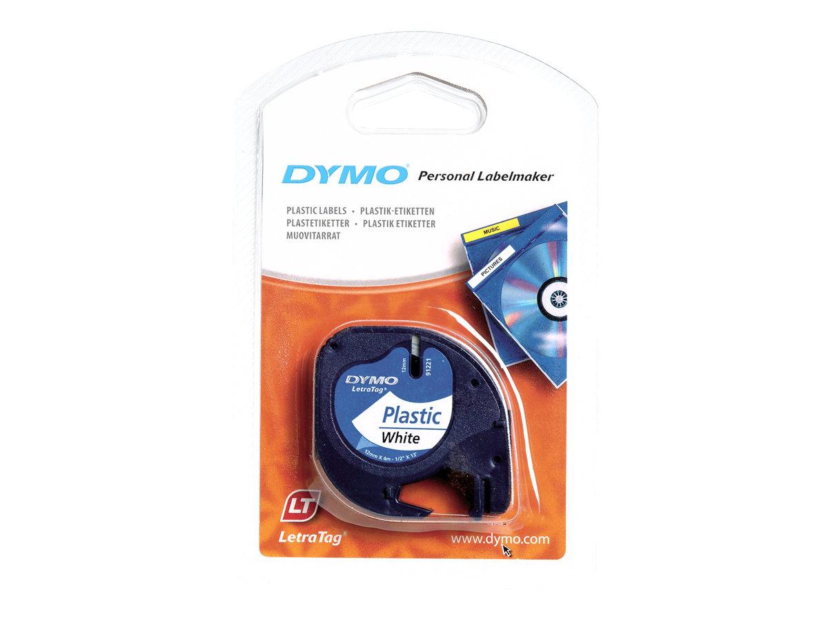 DYMO LetraTAG - Kunststoff - weiss - Rolle (1,2 cm x 4 m) 1 Rolle(n) Band - für LetraTag LT-100H, LT-100T, QX50, XR