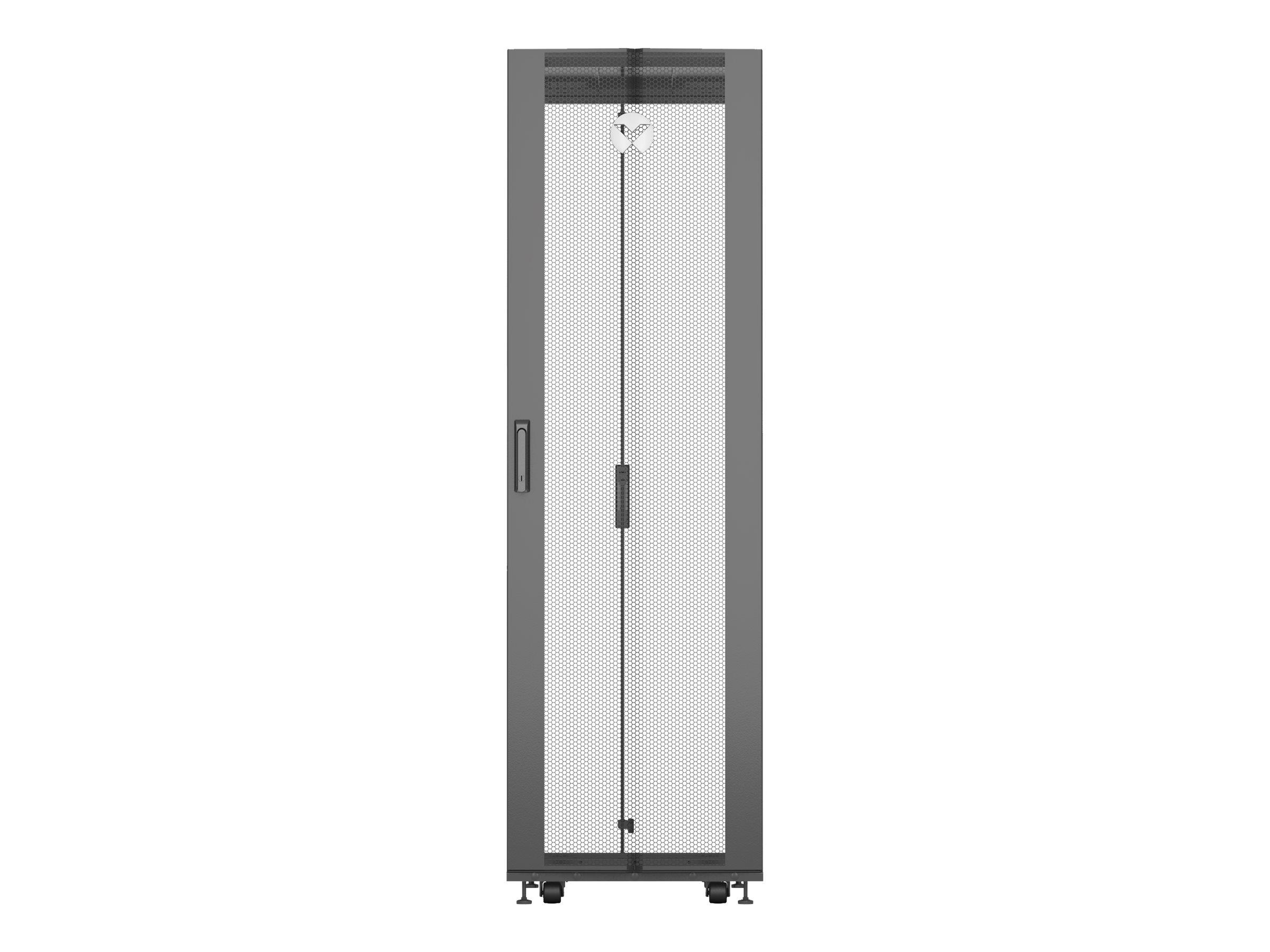 Vertiv VR Komplett - Schrank - Schwarz, RAL 7021 - 42HE - 48.3 cm (19