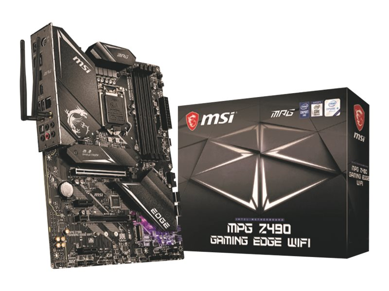 MSI MPG Z490 GAMING EDGE WIFI - Motherboard - ATX - LGA1200-Sockel - Z490 - USB-C Gen1, USB 3.2 Gen 1, USB 3.2 Gen 2, USB-C Gen