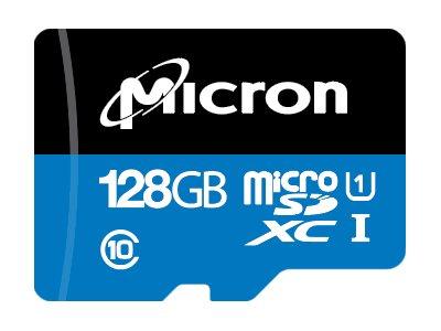 Micron - Flash-Speicherkarte - 128 GB - A1 / UHS-I U1 / Class10 - microSDXC UHS-I