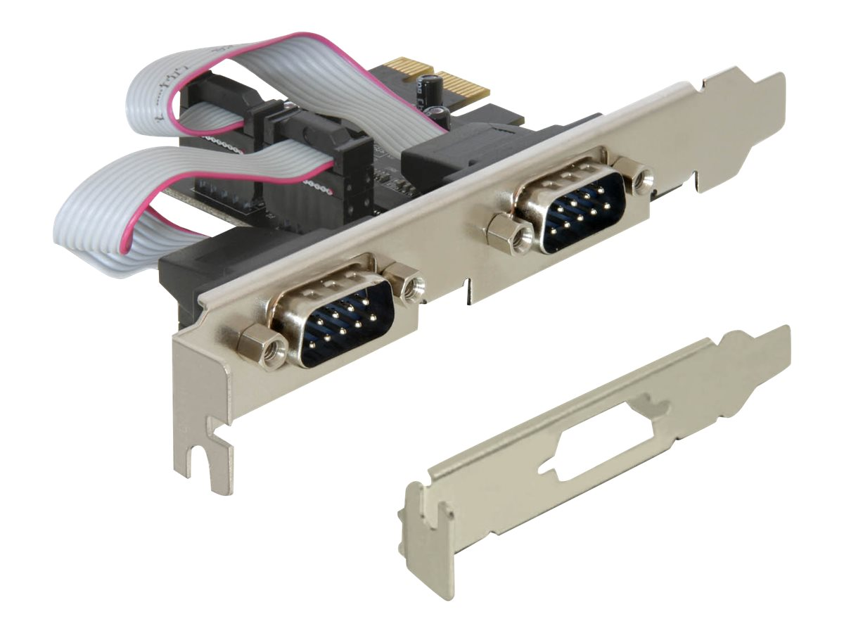 DeLock PCI Express Card 2 x Serial - Serieller Adapter - PCIe Low-Profile - RS-232 x 2